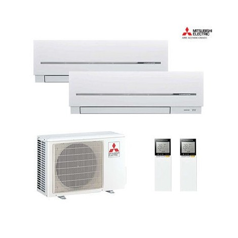 AIRE ACONDICIONADO 2X1 MULTISPLIT MITSUBISHI ELECTRIC MXZ-2D33VA + MSZ-SF20VE + MSZ-SF20VE