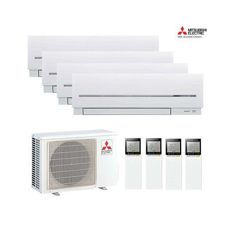 AIRE ACONDICIONADO 4X1 MULTISPLIT MITSUBISHI ELECTRIC MXZ-4D72VA + MSZ-SF20VE + MSZ-SF20VE + MSZ-SF20VE + MSZ-SF20VE