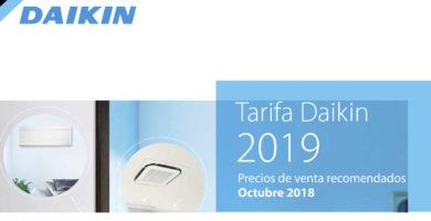 Tarifa Daikin 2018-2019